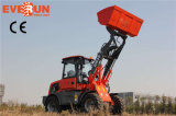 Qingdao Everun 1.5 Ton Agricultural Equipment Small Wheel Loader con Wooden Forks