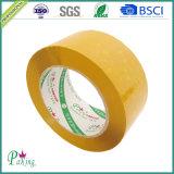 Большая лента упаковки /Tan BOPP желтого цвета крена слипчивая