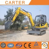 Excavatrice hydraulique multifonctionnelle chaude de pelle rétro de chenille de Salesct45-8b (4.5t)