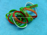 Weihnachtsheiße Auslegung-Silikon-Bier-Riemen-Armbänder
