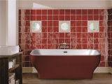Bañera derecha libre del acrílico blanco de la alta calidad