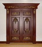 Porte intérieure de bois de construction d'oscillation en bois solide de modèle moderne pour la construction et la décoration