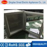 Mini frigorífico com porta de vidro para mini bar do hotel com fechadura