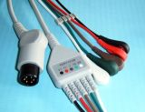 Cavo del video paziente 6pin 3&5 ECG Snap&Clip