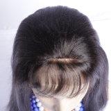 イタリアのYakiの完全なレースの人間の毛髪のかつらのブラジルのYakiのまっすぐなレースの前部かつらの黒人女性のための絹の上の完全なレースの人間の毛髪のかつら