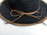 Paja 100% de la rafia con los sombreros del safari del estilo del ocio