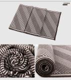 人の方法しまのある羊毛アクリルの編まれた冬のスカーフ(YKY4613)