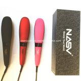 2016 escova cerâmica do Straightener do cabelo da escova reta profissional do cabelo da estrela Nasv-300 da beleza do Straightener do cabelo do aníon com indicador do LCD
