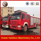 6つの車輪8トントラック2000ガロンのHOWOの消火活動の