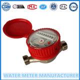 Meter van het Water van het Type van Wijzerplaat van het messing de enig-Straal Natte (Dn15-20mm)
