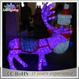 옥외 정연한 크리스마스 LED 3D 아크릴 순록 훈장 빛