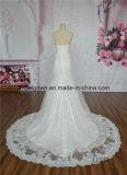 Lacet sans bretelles en ivoire de robe de mariage