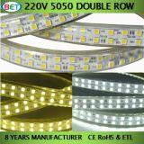Bande de la rangée DEL de la tension 144LED de SMD5050 20-22lm/LED ETL double