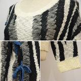 Frauen Zebra-Streifen Freizeit-Strickwaren-Pullover-Strickjacke
