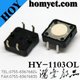 Interruptor do tacto do MERGULHO Highquality12*12*8 com tecla redonda 4pin (HY-1103-H8)