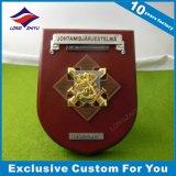 trofeo de madera de la placa del blindaje del honor de la reina 3D para la decoración