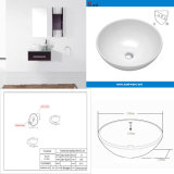 Раковина мытья руки ванной комнаты круглая керамическая с аттестацией Cupc (SN129-523-20)