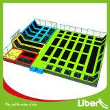 Het aangepaste Park van de Trampoline van Liben van het Ontwerp Binnen met de Hoepels van het Basketbal