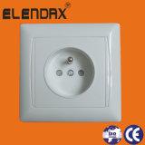 Europa 1 tipo francés socket de pared eléctrico (F6610) de la cuadrilla