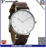 Yxl-852 hombres cronómetro mano de grano completo de piel de negocios de banda reloj de cuarzo
