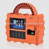 Het schokbestendige Mobiele Apparaat van de Opkomst van de Tijd van de Vingerafdruk van /Portable van de Opkomst van de Tijd Biometrische met GPRS voor Bouwwerf