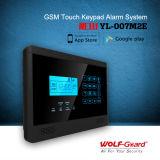 Loup-Garder le système d'alarme à la maison de l'alarme GSM, alarme de cambrioleur sans fil de sécurité