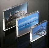 Alta cornice acrilica libera trasparente di Frameless, blocchi per grafici acrilici magnetici della foto, blocco acrilico