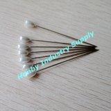 Pin décoratif de larme de tête blanche de perle pour la décoration de Noël (P160301A)