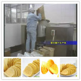 Pommes chips fraîches faisant la centrale avec du CE, OIN