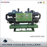 refrigeratore di acqua raffreddato ad acqua industriale della vite 216kw per industria