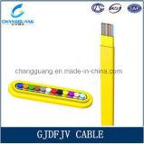 Кабель оптического волокна Gjdfjv с пряжей Aramid как кабель стекловолокна кабеля тесемки волокна Multi сердечника члена прочности крытый плоский