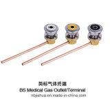 Terminal del gas del estándar británico de la fábrica de China de la venta/enchufe médicos calientes O2/Air/VAC