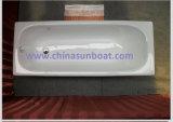 Banheira da banheira do ferro de molde de Sunboat a única encaixou a banheira aprofundada enxerto do esmalte