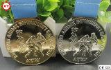 Das Medaillen-silberne Bronzegold kundenspezifisch anfertigen überzogene (XYmxl100803)