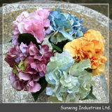 Flor personalizada colorida plástica da seda artificial do projeto novo