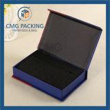 Rectángulo plegable joyería de lujo negra de la cartulina (CMG-013)