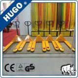 Alta capacidad de elevación de tijera de mano de nylon de la rueda hidráulica de la mano carro de plataforma