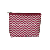 Wholesale poco costoso Chevron Promotional Cosmetic Bag per Girl