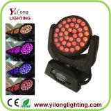 새로운 직업적인 36X10W RGBW 4 In1 LED 이동하는 맨 위 세척 빛