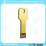 Memoria Flash del metal del oro Clave de aluminio con el logotipo (ZYF1728)
