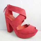 Veloursleder-Plattform-Schuhe der Frauen mit Form und bequemer PU Outsole