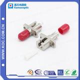 Simplex metal híbrido de fibra óptica adaptador
