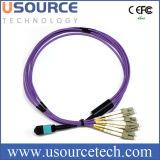 Ópticos de fibra avientan hacia fuera la cuerda de remiendo LC, MPO al LC