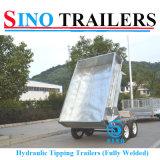 3000kgs 강철에 의하여 직류 전기를 통하는 농업 실용적인 덤프 트레일러