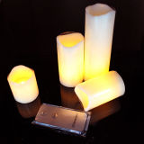 4PCS/Set Remote Flameless Yellow Flickering LED Wax Candle