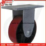 6 Inch-überschüssiger Stauraum PU-Hochleistungsfußrolle