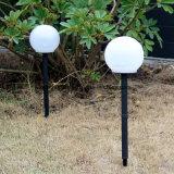 Lámpara Globo Solar con Spike Césped Jardín Iluminación