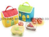 Sacchetto del pranzo della tela di canapa del reticolo per il sacchetto di Tote dell'ufficio