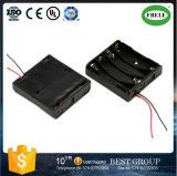 Sostenedor de batería del AA del alambre del grafito rojo y del sostenedor de batería 18650