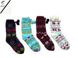 Quattro calzini lavorati a maglia delle donne di colore (RY-SC1643)